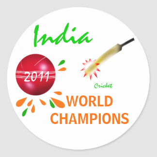 India 2011 ICC Cricket World Cup Champions Sticker