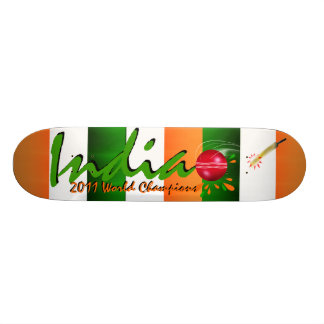 India 2011 ICC Cricket World Cup Champs Skateboard