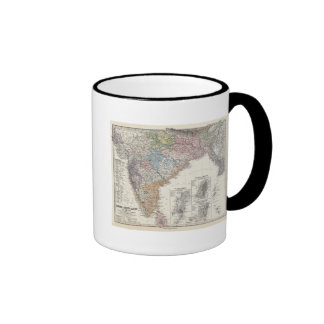 India and Central Asia Ringer Coffee Mug