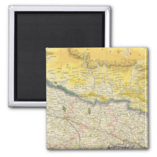India and Nepal 2 Inch Square Magnet