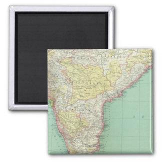 India and Sri Lanka 2 2 Inch Square Magnet