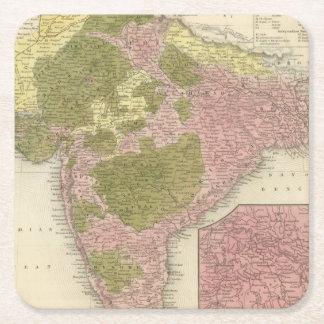 India and Sri Lanka Square Paper Coaster