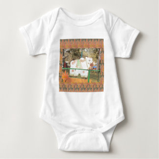 India art crafts show holy cow statue new delhi baby bodysuit