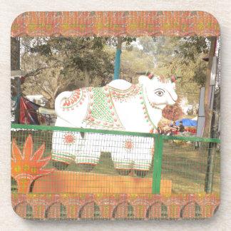 India art crafts show holy cow statue new delhi coaster