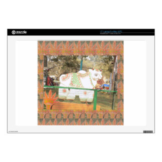 India art crafts show holy cow statue new delhi laptop decals