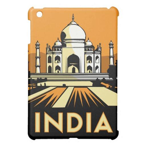 india art deco retro travel poster iPad mini cover