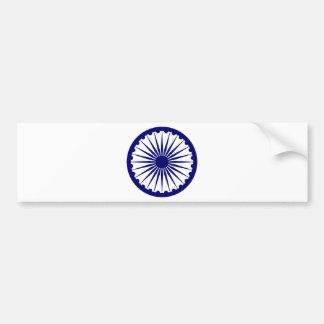 India Ashoka Chakra Car Bumper Sticker