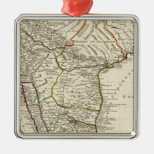 India, Bangladesh, Asia Square Metal Christmas Ornament