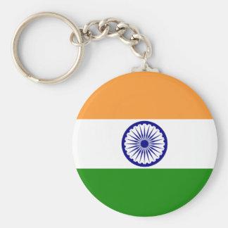 india basic round button keychain