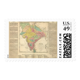 India Battles and Seiges Chonology Map Postage