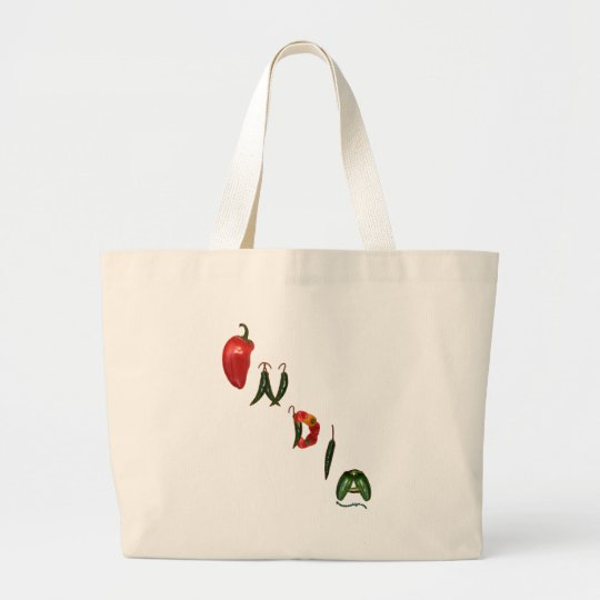 India Chili Peppers Large Tote Bag