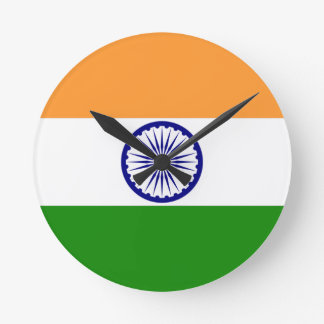 india round wallclock