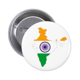 india country flag map shape indian pinback button