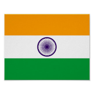 India country long flag nation symbol republic poster