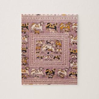 India Cow Menagerie Print Puzzle