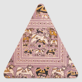 India Cow Menagerie Print Triangle Sticker
