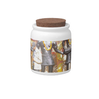 India cultural show statue of musicians artists candy jar