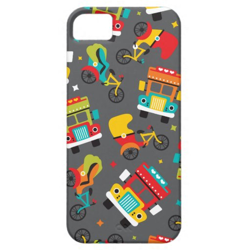 India cycle rickshaw tata truck and tuctuc iPhone 5 cover