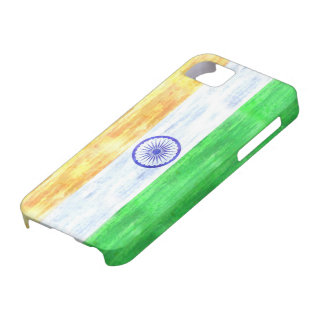 India distressed Indian flag iPhone SE/5/5s Case