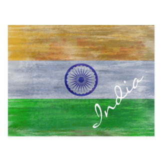 India distressed Indian flag Post Card