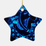 India Double-Sided Star Ceramic Christmas Ornament