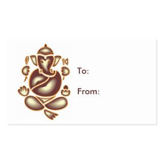 India Elephant Meditation Gift Tag Business Card