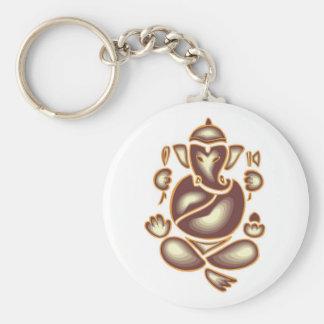 India Elephant Meditation Keychain