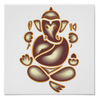 India Elephant Meditation Poster 15x15