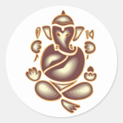 India Elephant Meditation Sticker