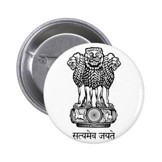 india emblem pinback button