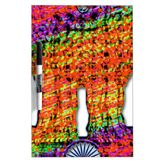 India Emblem Psychedelic Dry-Erase Board