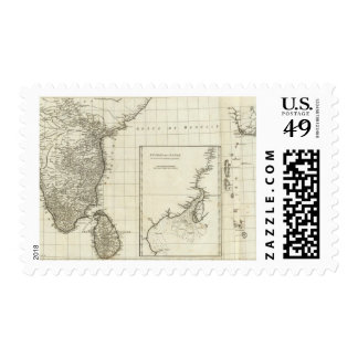 India Engraved Map Postage Stamps