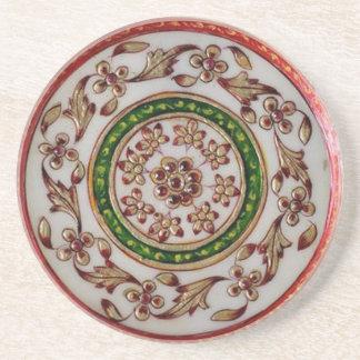 iNDIA Ethnic Decoration Art - ROUND GoodLuck Art Drink Coaster