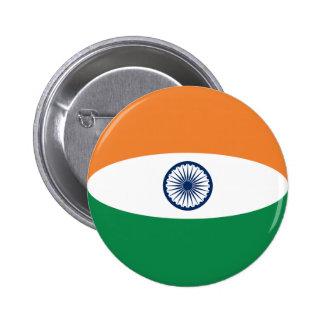India Fisheye Flag Button