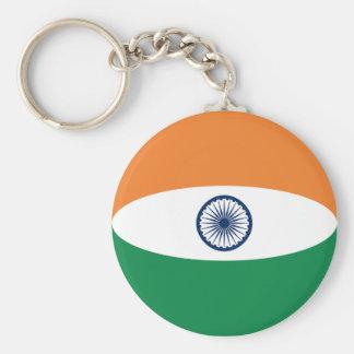 India Fisheye Flag Keychain