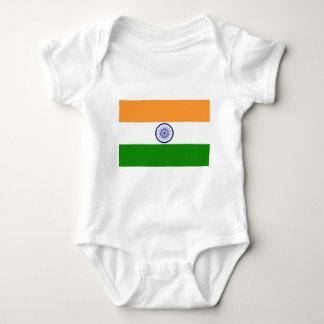 India Flag Baby Bodysuit