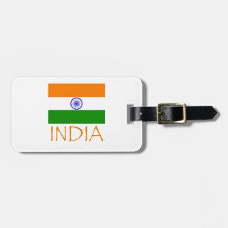 India Flag Bag Tag