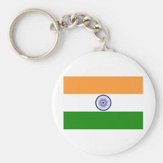 India Flag Basic Round Button Keychain