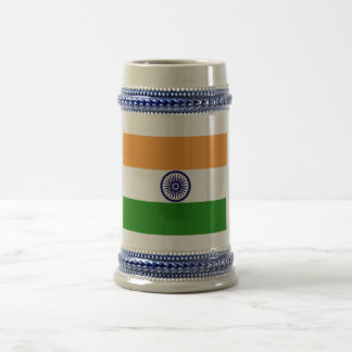 India Flag Beer Stein