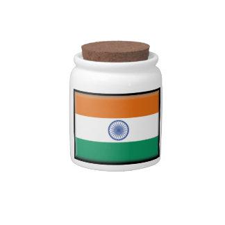 India Flag Candy Jars