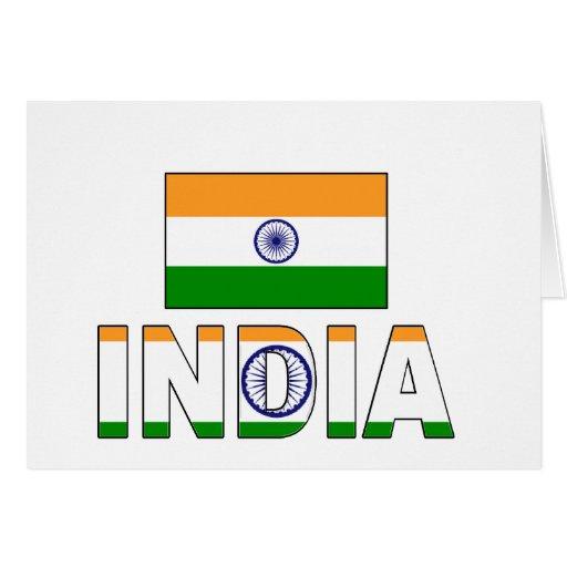India flag cards
