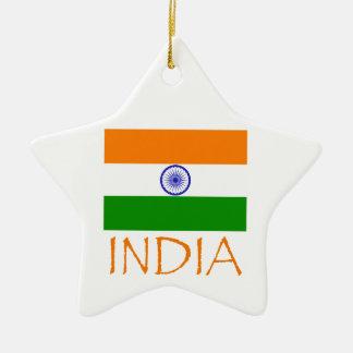 India Flag Ceramic Ornament