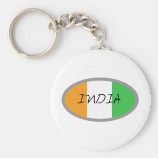 India Flag design! Basic Round Button Keychain