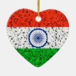India Flag glitter ornament
