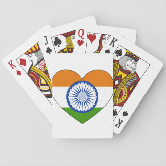 India Flag Heart Playing Cards