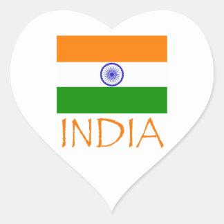 India Flag Heart Sticker