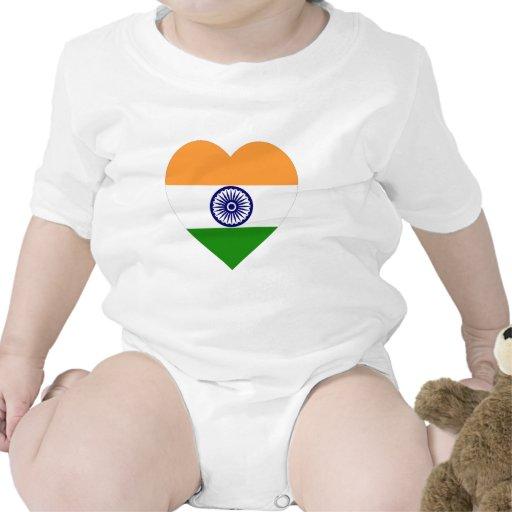 India Flag Heart Shirt