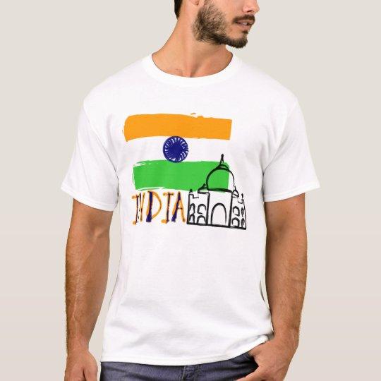 INDIA (FLAG LINE) T-Shirt