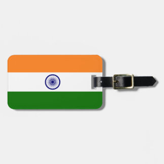 India Flag Luggage Tag