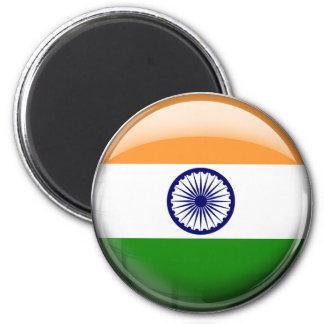 India Flag 2 Inch Round Magnet